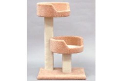 North American Pet Kitty Tree W/ 2 Sleep Trays 35in