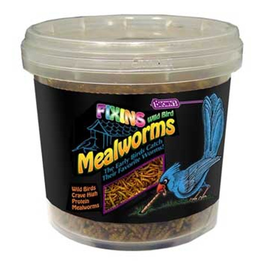 F.M. Brown's Brn Fixins Mealworms Tub 3 Oz-90676