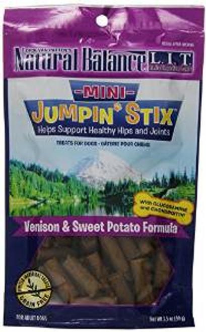Natural Balance Lit Mini Jumpin' Stix Venison Formula With Glucosamine And Chondroitin Semi-moist Dog Treat 12/3.5 Oz.