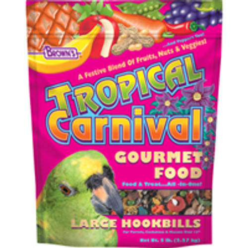 F.M. Brown's Brown S Tropical Carnival Large Hookbill Bird Food-90602