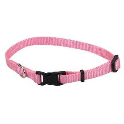 Coastal Adjustable Nylon Collar With Tuff Buckle Bright Pink 1x20in