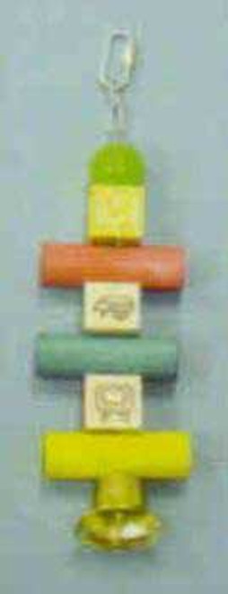Bobs WoodBird Brainers Alphabet Blocks W/ Bell Toy 10in