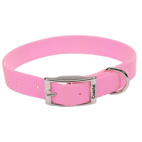 Coastal Single-ply Nylon Collar Bright Pink 1x20in