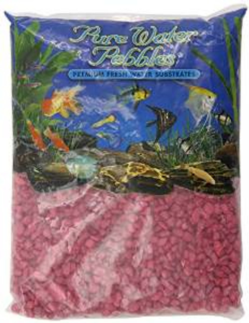 World Wide Imports Pure Water Pebbles Premium Fresh Water Substrates Red Frost 5lb