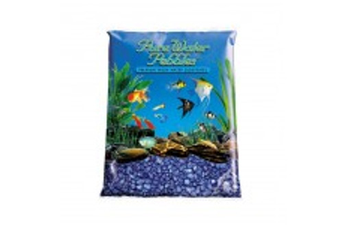 World Wide Imports Pure Water Pebbles Premium Fresh Water Substrates Deep Black Frost 25lb