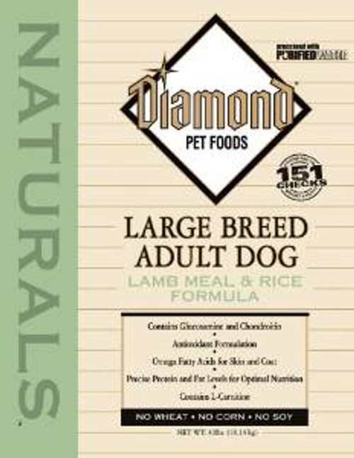 Diamond Nat Lmb/rc Lg Brd Dog 40 Lbs