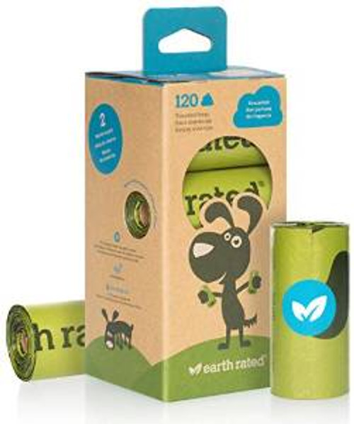 ECO 120 Count Earth Rated Unscented Dog Waste Bags 8 Refill Rolls 120ct