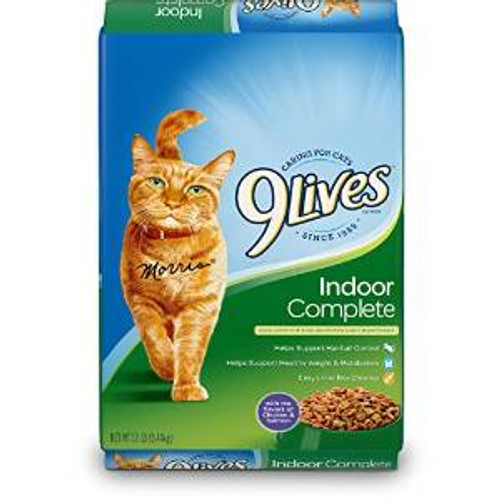JM SMUCKER 9lives Indoor Complete Dry Cat Food 12# *repl 799115