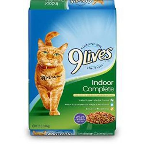 JM SMUCKER 9lives Indoor Complete Dry Cat Food 12# *repl 799115