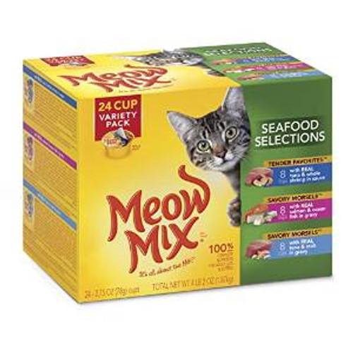 JM SMUCKER Delmonte Mew Mix Tender Favorites Seafood Variety Pack 2-24/2.75 Oz. Cans