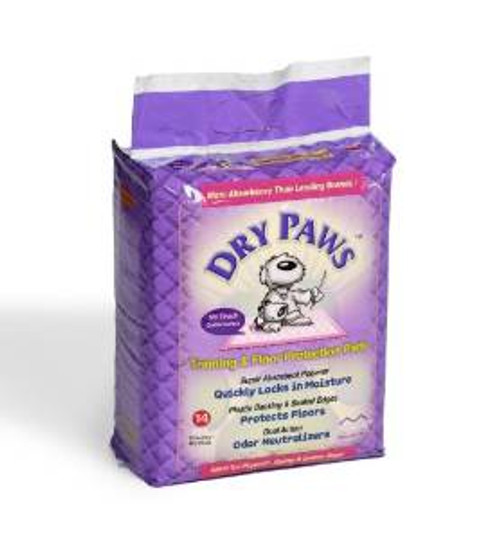 Midwest Ppl14 Dry Paw Lg Trn Pad 14pck