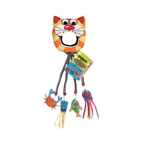 Bamboo Fat Cat Catfisher Doorknob Hanger Toy