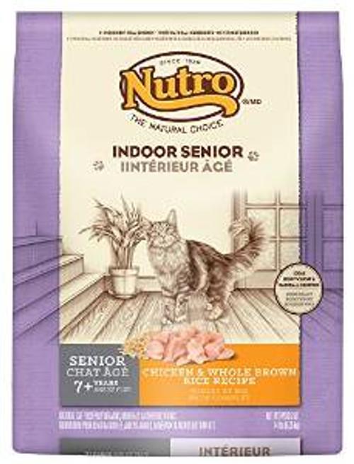 Nutro Natural Choice Indoor Senior Chicken/brown Rice Cat 14# *replaces 791029