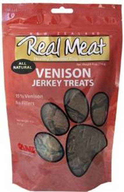 The Real Meat Company Dog Jerky Treats Venison 4 Oz.