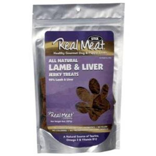 The Real Meat Company 8 Oz. Stix 95% Lamb Liver Dog Jerky Treats
