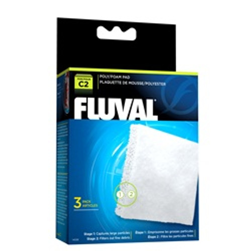 Fluval C2 Poly Foam Pad 3 Pack {requires 3-7 Days before shipping out}