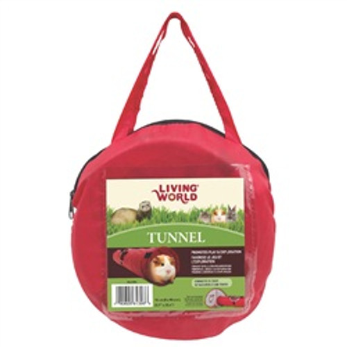 Living World Tunnel Red/grey Medium {requires 3-7 Days before shipping out}