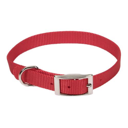 Coastal Single-ply Nylon Collar Red 5/8x12in