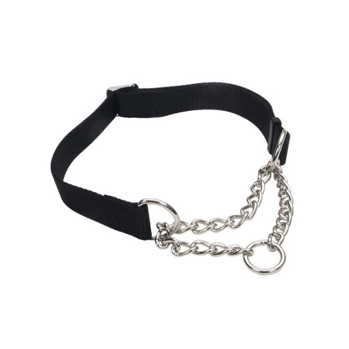 Coastal Check Training Collar For Dogs Adjustable Black 5/8x10-14in