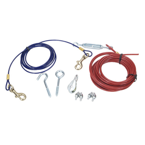 Coastal Titan Aerial Run With Brass Plated Snaps Red And Blue 50ft