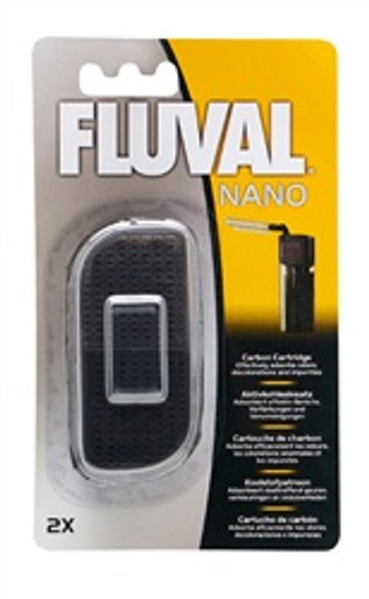 Fluval Nano Carbon Cartridge 2 Pcs {requires 3-7 Days before shipping out}