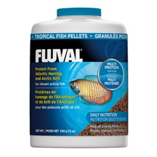 Fluval Tropical Pellets 12oz {requires 3-7 Days before shipping out}