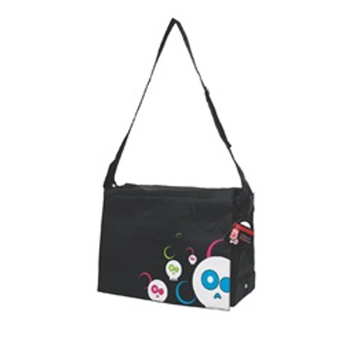 Dogit Style Messenger Bag Daface Blk {requires 3-7 Days before shipping out}