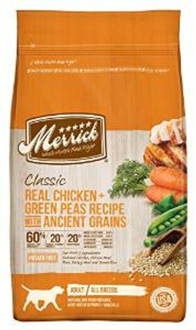 Merrick Clsc chicken /grn Pea 4# Case of 6