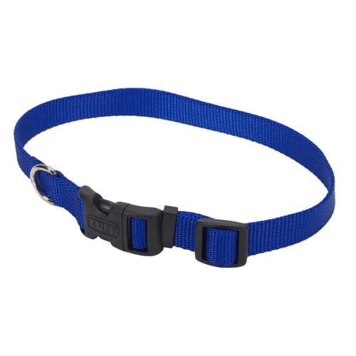 Coastal Adjustable Nylon Collar With Tuff Buckle Blue 5/8x14in