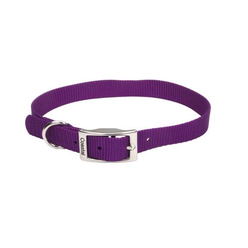 Coastal Single-ply Nylon Collar Purple 3/4x18in