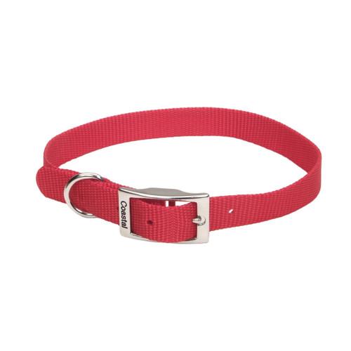 Coastal Single-ply Nylon Collar Red 3/4x18in