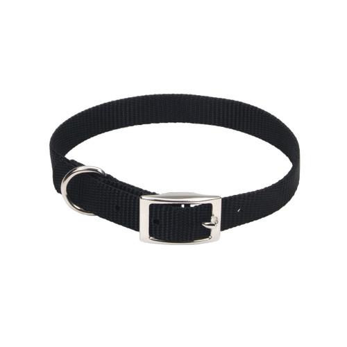 Coastal Single-ply Nylon Collar Black 5/8x14in