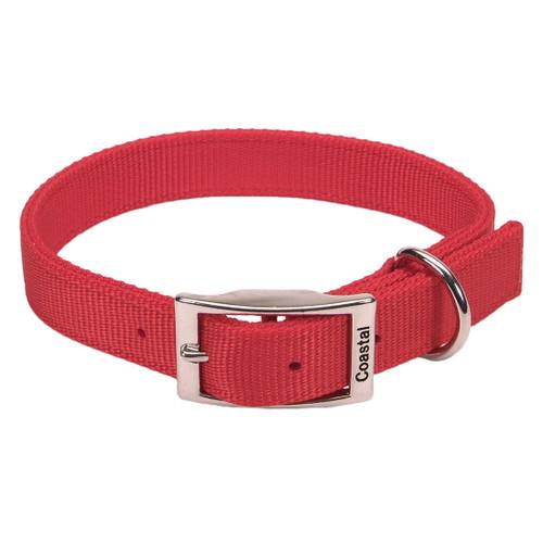 Coastal Double-ply Nylon Collar Red 1x24in