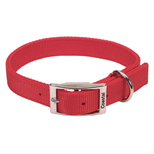 Coastal Double-ply Nylon Collar Red 1x26in