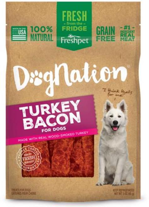 Freshpet Dog Nation Turkey Bacon Treats 3 oz. SD-5 {L-1}518030