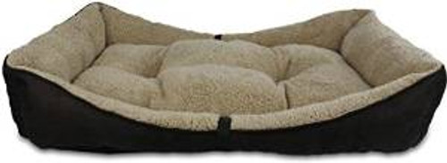 Afp Lambwool Bolster Bed Brown Sm (5386) {requires 3-7 Days before shipping out}