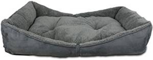Afp Lambswool Bolster Bed Grey Sm (5389) {requires 3-7 Days before shipping out}