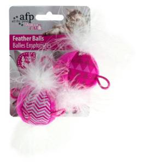 Afp Modern Cat Feather Balls 2pk (2155) {requires 3-7 Days before shipping out}