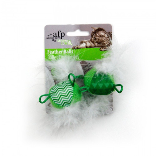 """AFP Comfort Cat Feather Ball 2pk(2375)"""""""