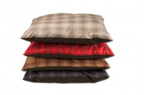 Comes in Assorted Plaid Home Decor Prints. Pet Bed in Machine Washable.