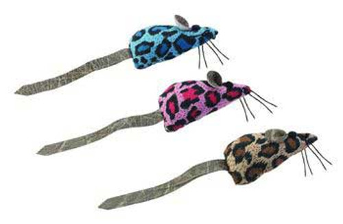 Spot Ethical Crazy Spots Mice W/ Faux Leather Tail & Catnip 2pk