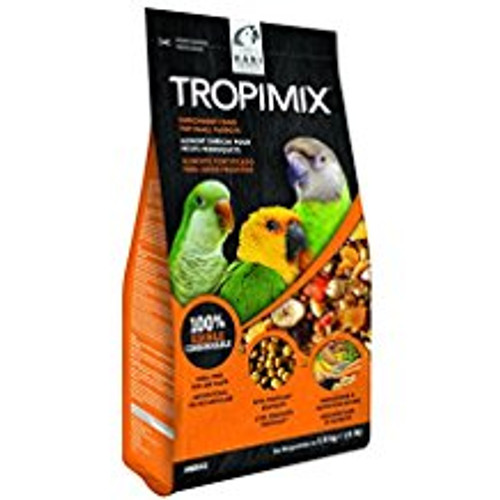 Tropimix Enrichment Formula For Small Parrots Is An Appetizing Food Mix Full Of Grains, Fruits, Nuts, Legumes And Extruded Tropican Granules. Tropican Granules Are Not Only Bursting With Peanut Flavor, But Are Formulated With Plenty Of Essential Nutrients