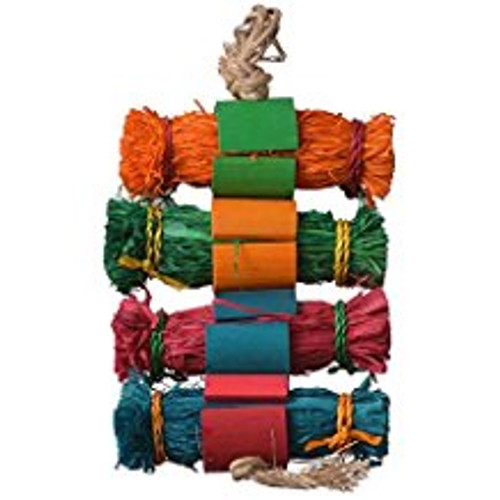 Enrich Your Bird's Playtime With Hari Rustic Treasures Grass Bundles. Hand Crafted With Natural  Abaca, Bamboo And Corn Husk, This Colorful Toy  Encourages Your Pet Parrot To Preen So You Don't Have To Worry About Feather Plucking.    Key Features  :