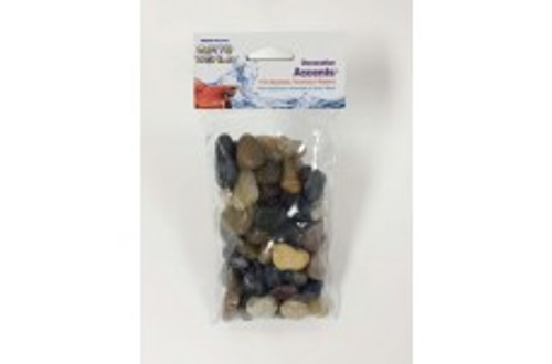Penn-Plax Betta World Decorative Accents Natural River Rocks 1lb