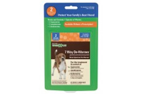 SENTRY Worm X Plus 7 Way De-Wormer Small Dog 2ct