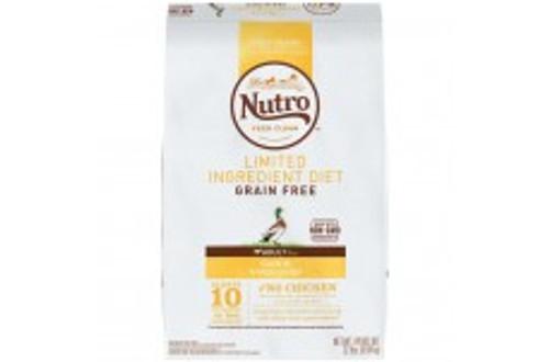Nutro Limited Ingredient Diet Grain Free Duck & Lentils Dog Food 22lbs