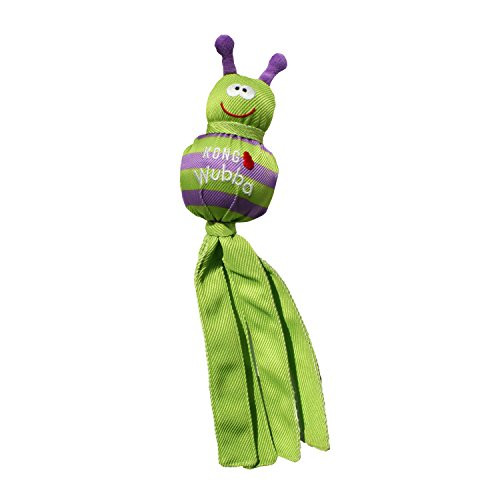 With flip-floppy tails, two hidden balls and a squeaker, the KONG Wubba Bug is a dog party with antennae. Covered in durable KONG Ballistic material, it #;s made to shake, flail and squeak, sparking your pup #;s natural instincts. These Bugs have no