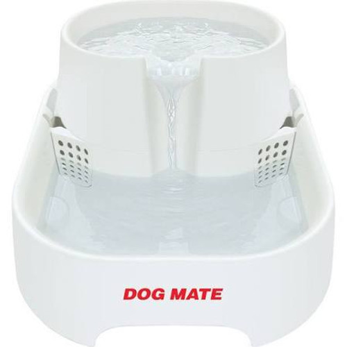 "Dog Mate Pet Fountain for dogs and cats have a unique design that is exceptionally quiet in operation with an IPS (Isolated Pump System).  Suitable for cats and dogs.  Dimensions: 14.25""""L x 10.75""""W x 6.75""""H."""