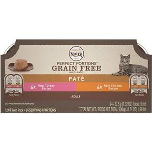 Nutro Perfect Portion Pate Turkey and Chicken Cat Food 12ea/2.64oz
