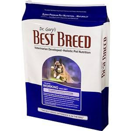 Best Breed Working Dog Diet Is A Very Energy-dense Food That Offers A Unique Combination Of Moderate Protein And High Fat. This Food Was Developed By Dr. Gary In Cooperation With Schutzhund Club Members Who Wanted A Nutrient-dense Food That Was High In Fa